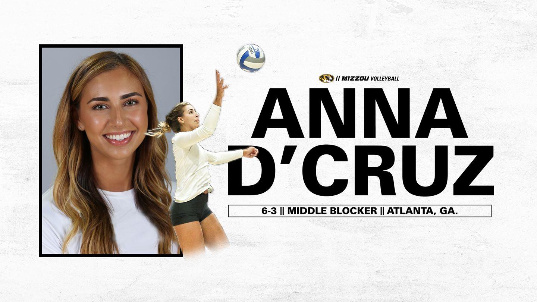 Mizzou Volleyball Adds Transfer Anna D Cruz To 2020 Roster Ozark Radio News